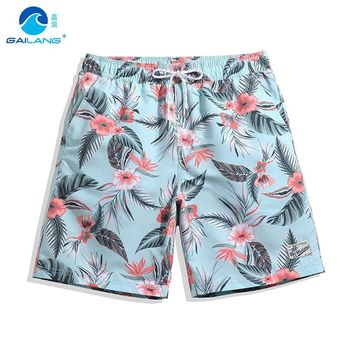 1da81ca9f7 Gailang couples boardshorts liner sports swimsuit mens print flowers  bermudas siwmming trunks beach surfing bathing suit