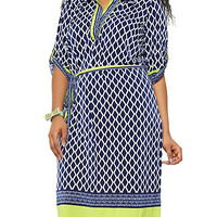 Plus Size Geometric Print Dress