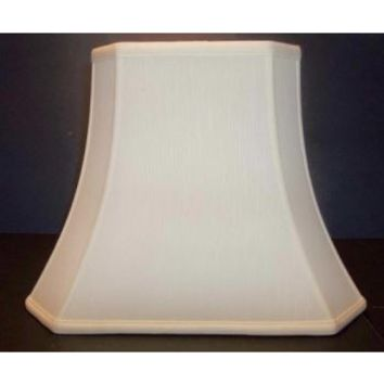 20400 - Traditional Silk Square Cut Corner Lamp Shade.  Silk Shantung Fully Lined Available In Two Sizes And Four Colors. Fully Lined With Washer Finials Top