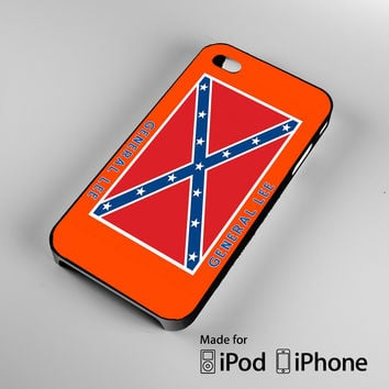 General Lee Roof Logo The Dukes of Hazzard A0618 iPhone 4 4S 5 5S 5C 6, iPod Touch 4 5 Cases