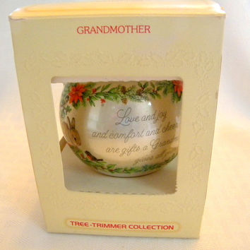 Hallmark Grandmother ornament 1980 Tree Trimmer Collection Christmas ornament