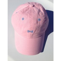 Bowtie Hat in Light Pink with Baby Blue by Frat Collection