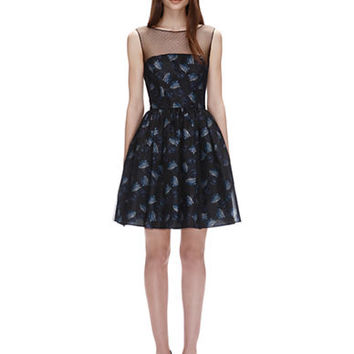 Jill Jill Stuart Floral Print Fit and Flare Dress