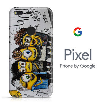 5SOS She Looks So Perfect Minions Google Pixel Phone 3D Case