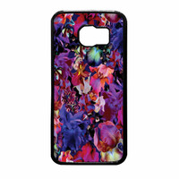Lush Floral Pattern Beaming Orchid Purple Samsung Galaxy S6 Case