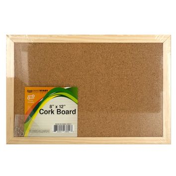 Wood Framed Cork Board Case Pack 12