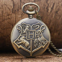 Harry Potter Hogwarts School of Witchcraft and Wizardry Pocket Watch