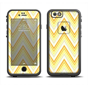 The Sharp Vintage Yellow Chevron Apple iPhone 6 LifeProof Fre Case Skin Set