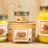 Peanut Butter Cookie Scented Candle, Peanut Butter Cookie Scented Wax Tarts, 26 oz, 12 oz, 4 oz Jar Candles or 3.5 Clam Shell Wax Melts