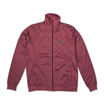 King Apparel - Boleyn Track Jacket - Oxblood