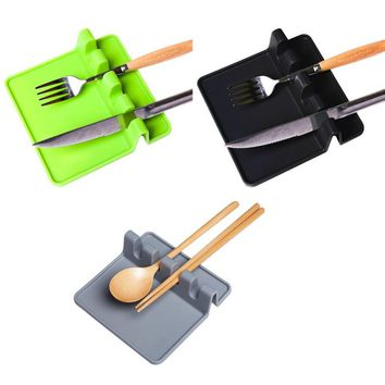 Silicone Spoon pad Spatula mat Placemat new design for kitchen  Tools Kitchen Spatula Holder