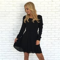 Morning Glory Dress in Black