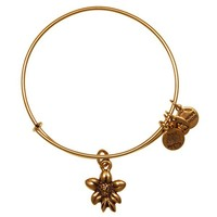 Alex and Ani Apple Blossom Charm Bangle- Russian Gold