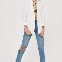 Soft Double Breasted Blazer - Jackets & Coats - Clothing