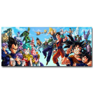 Dragon Ball Z Art Silk Fabric Poster Print Living Room Wall Decor