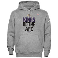 Baltimore Ravens Nike 2012 AFC Conference Champions Kings of the AFC Hooded Sweatshirt - Gray - http://www.shareasale.com/m-pr.cfm?merchantID=7124&userID=1042934&productID=554340803 / Baltimore Ravens