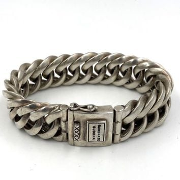 Buddha to Buddha Sterling Silver Esther Big Bracelet XL wide