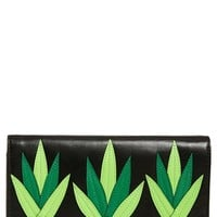 kate spade new york 'wing it - tally' leather clutch - Yellow
