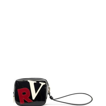 Roger Vivier Initial Cube Pouch Bag, Black/Red/White