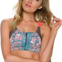 MAAJI POPPY SHERBET SPORTS BRA