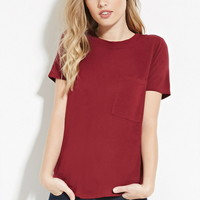 Slub Knit Pocket Tee