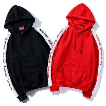 Supreme Fashion Hoodie Top Sweater Pullover