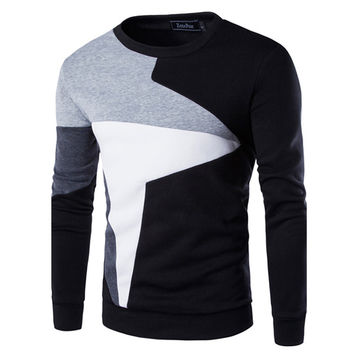 Men's Fashion Color Block Sweatshirt