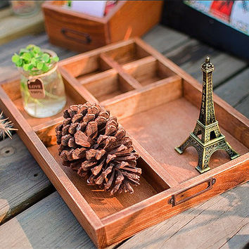 Wooden Handcrafts Storage Tray = 5893904129