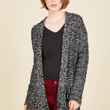 Chenille the Deal Cardigan in Black