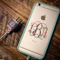 Monogrammed Lilly Pulitzer iPhone Decal and Charger Wrap Set