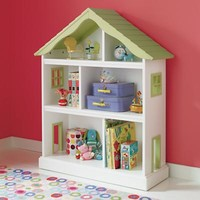 Kids' Bookcases: Kids White Dollhouse Shaped Bookcase in Bookcases | The Land of Nod