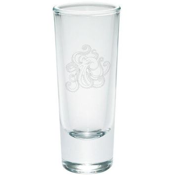 MDIGCY8 Octopus Tattoo Etched Shot Glass Shooter