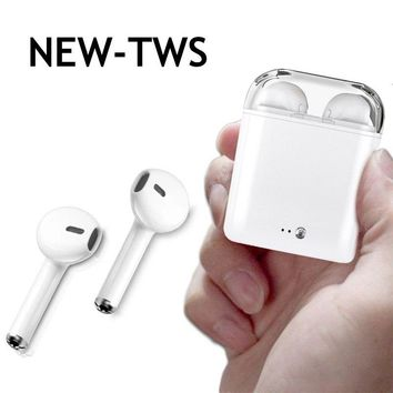 TWS Bluetooth Earphones Wireless Earphone Music Earbuds with Mic For Apple iPhone X Samsung S8 Xiaomi Huawei Head phone Headset