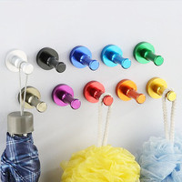 Sale Aluminum Alloy DIY Towel Wall Robe Hooks Bathroom Hardware Accessories Kitchen Door Clothes Key Hat Bag Hanger Rack Holder