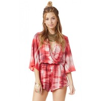 Blue Life Wild and Free Romper in V-Day Tie Dye