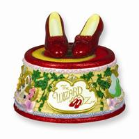 Wizard of Oz Figurine Ruby Slippers Clicking Heels