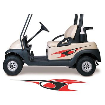 Two Color Golf Cart Decals Accessories Go Kart Stickers Side by Side Graphics GCA1206