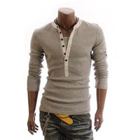 V-Neck Twinset Long Sleeves T-Shirt