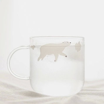 Hot Deal Drinks On Sale Hot Sale Cute Coffee Handcrafts Glass Transparent Couple Cup [6284138438]