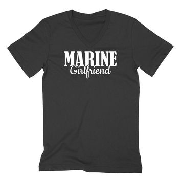 Marine girlfriend V Neck T Shirt