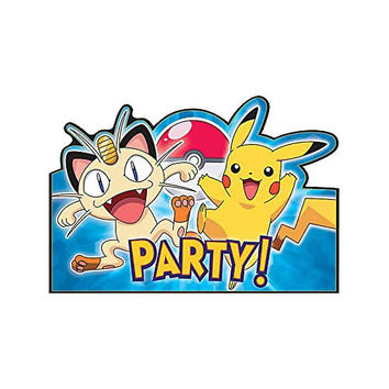 Pokemon Pikachu and Friends Invitations [8 Per Pack]