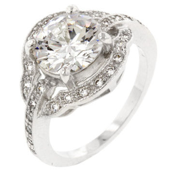 Antique Style Engagement Ring (size: 05)
