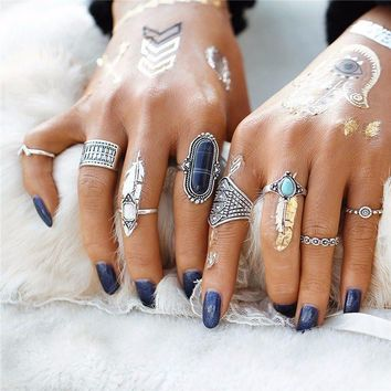 8 piece BOHO ring set