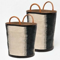 Aubrie Bags Set of 2 - Black/Natural Ombre