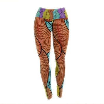 "Pom Graphic Design ""Textiles"" Yoga Leggings"
