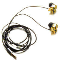 1pcs Hot Sale Unique Desgin 3.5mm In Ear Earphone Skull Stereo Headset For MP3 MP4 Smartphone D1072 P13 0.3