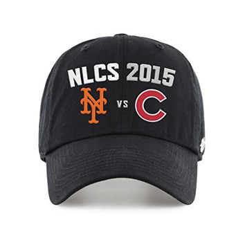 d3fb31a5132 New York Mets Chicago Cubs 47 Brand 2015 MLB Postseason NLCS Relax Hat Cap