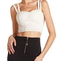 DOUBLE STRAP STUDDED CROP TOP