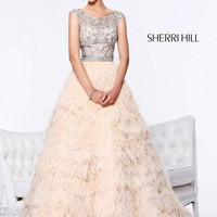 Sherri Hill 21064 Pageant Dress with Feathers - French Novelty