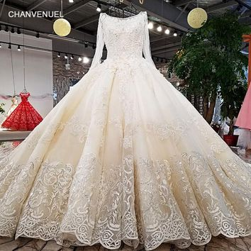 LS62347 O-neck new style lace up ladylike bridal dress corset back princess wedding dress with long train from china online shop